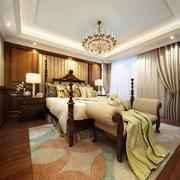 138平米美式风格卧室窗帘设计效果图鉴赏