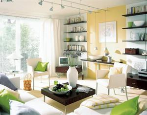 85平米都市简约风格客厅装修设计效果图赏析