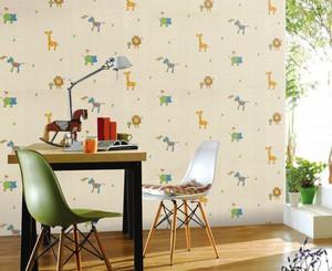 现代简约风格三居室儿童房墙纸效果图赏析