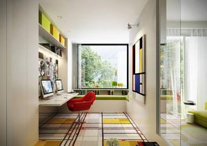 7平米现代简约风格小书房装修设计效果图鉴赏