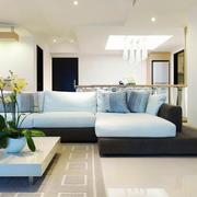 现代风格三居室客厅时尚布艺沙发效果图赏析