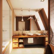 9平米日式简约风格卫生间装修设计效果图赏析