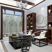 18平米中式风格书房装修设计效果图赏析