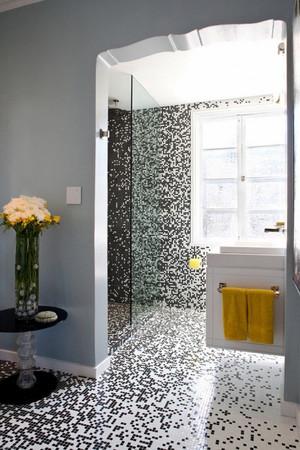 12平米现代简约风格卫生间马赛克瓷砖效果图赏析