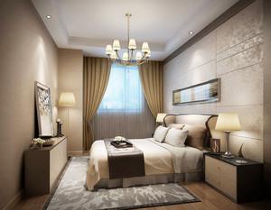 20平米现代风格卧室时尚窗帘效果图赏析