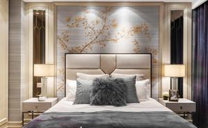 100平米现代风格卧室背景墙设计效果图赏析