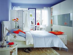 现代简约风格二居室卧室地毯效果图鉴赏
