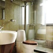 后现代风格小户型卫生间玻璃隔断设计效果图鉴赏