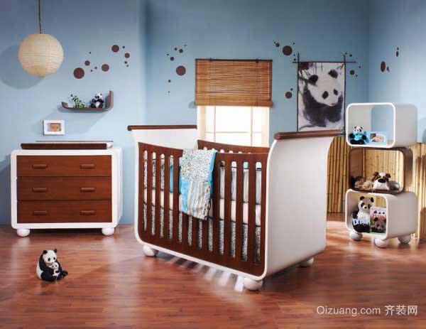 欧式风格三居室精致婴儿房设计装修效果图赏析