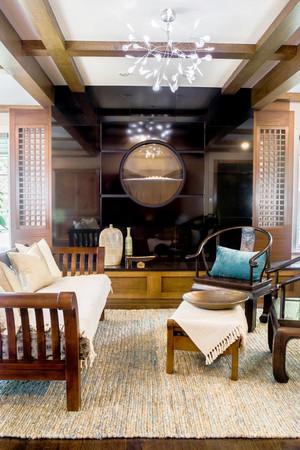 中式风格小户型客厅装修设计效果图赏析