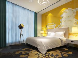 36平米现代简约风格宾馆单人间装修效果图