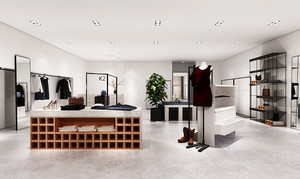 60平米现代简约风格服装店店面装修效果图