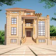 欧式风格三层别墅设计效果图鉴赏
