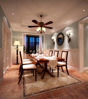 美式风格大户型室内餐厅吊顶装修效果图赏析