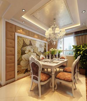 欧式风格餐厅水晶吊灯设计装修效果图