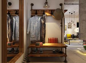 北欧风格进门玄关鞋柜设计效果图