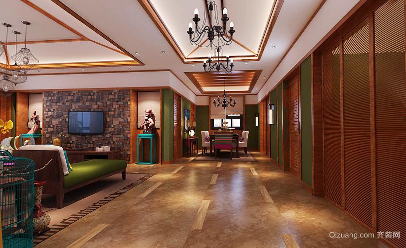 东南亚风格大户型室内装修效果图赏析