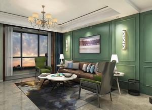 现代简约法式风格三居室室内装修效果图赏析