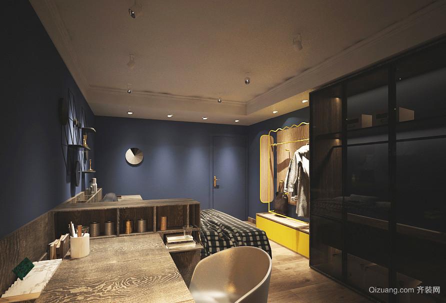 98平米现代工业风格两室两厅一卫装修效果图