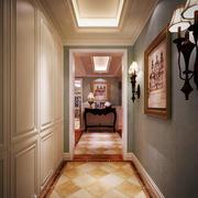 现代美式风格大户型室内家装过道吊顶效果图
