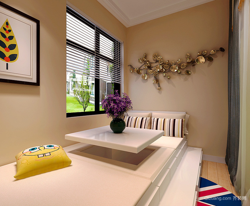 日式简约风格复式楼室内装修效果图赏析