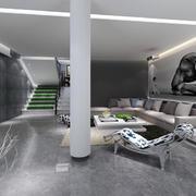 现代简约风格复式楼客厅装修效果图赏析