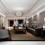 简欧风格三居室室内客厅天花吊顶效果图赏析
