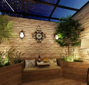 乡村风格楼顶露台花园装修效果图赏析