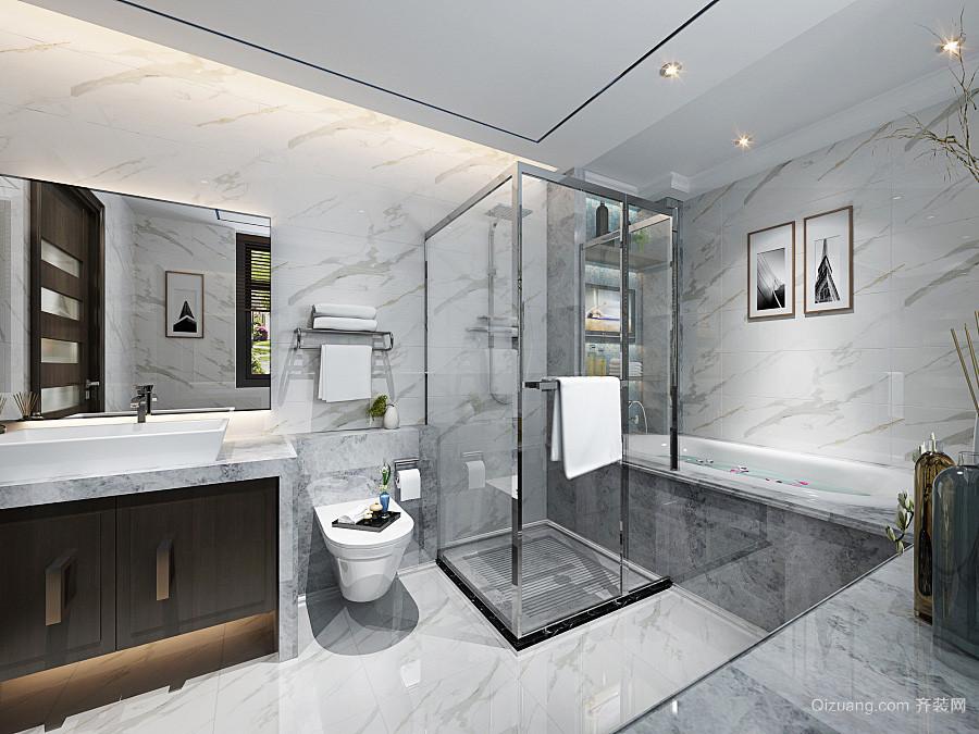 简欧风格129平米复式楼室内装修效果图赏析