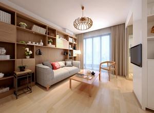 56平米日式简约风格一居室装修效果图