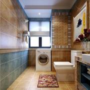 美式风格大户型卫生间地砖装修效果图
