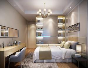 现代简约风格卧室衣柜推拉门设计装修效果图