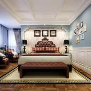 36平米现代简约美式风格主卧室装修效果图
