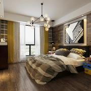 后现代风格简约卧室窗帘设计装修效果图