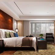 东南亚风格卧室背景墙设计装修效果图