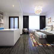 现代简约风格大户型室内开放式书房装修效果图