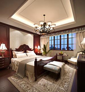 美式风格复式楼卧室装修效果图赏析