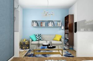 66平米现代简约风格单身公寓装修效果图赏析