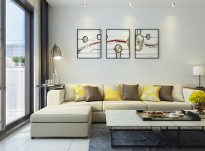 现代简约风格小户型开放式客厅装修效果图赏析