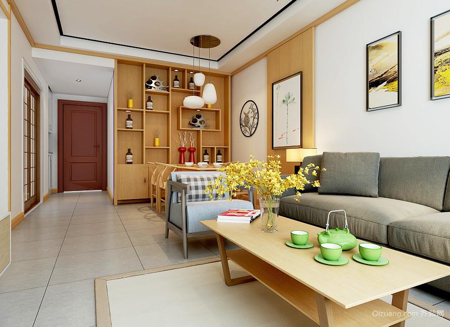 现代简约中式风格两居室装修效果图赏析