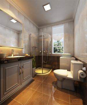 现代简约风格三居室室内卫生间淋浴房效果图