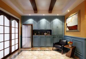 地中海风格别墅室内厨房整体橱柜效果图