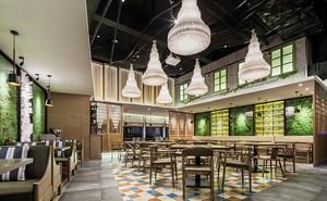 136平米乡村风格主题餐厅设计装修效果图