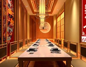 60平米日式风格餐厅包厢设计装修效果图