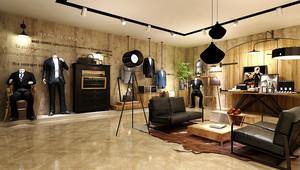79平米现代风格男士服装店装修效果图赏析