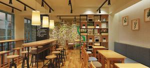 56平米日式简约风格咖啡厅装修效果图赏析