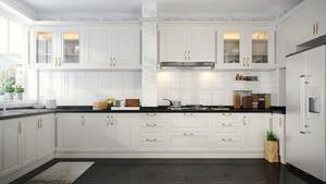 简欧风格大户型室内厨房橱柜装修效果图