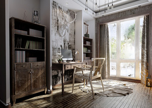 北欧风格小户型小书房装修效果图赏析