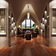30平米新中式风格别墅室内书房设计装修效果图