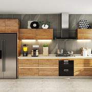 现代简约风格大户型室内厨房橱柜设计实景图